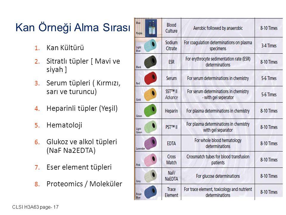 Kan Örneği Alma Sırası Kan Kültürü Sitratlı tüpler [ Mavi ve siyah ]